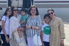 Taimur joins mumma Kareena for his Nani Babita Kapoor's Bday lunch