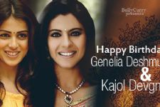 Happy Birthday Kajol and Genelia!