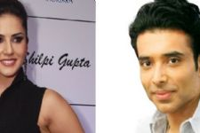 Uday Chopra, Sunny leone in 'plank off' competition