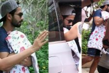 In Pics: Shahid Kapoor's Baby and Wife discharged from hospital