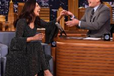 A sneak peak of Priyanka Chopra at The Tonight Show With Jimmy Fallon