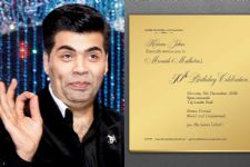 Karan Johar's GOLD invitation