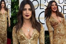 Get Priyanka's golden look from Golden Globes