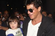 SRK takes the help of his youngest son AbRan Khan to promote 'Raees'
