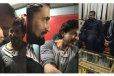 Irfan and Yusuf Pathan greet SRK in Vadodara!