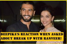 See how Deepika REACTS when asked about break up with Ranveer!
