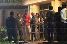 Bachchan family arrive at the Hospital