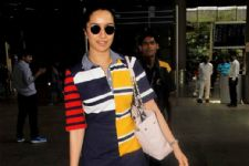 #Stylebuzz: Shraddha Kapoor's Color Blocked Airport Look