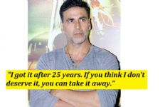 Akshay Kumar LOSES COOL gives a STRONG statement