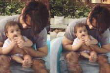 Aww: Shahid Kapoor enjoying with daughter Misha in the Pool