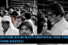 Amitabh Bachchan's emotional post for Vinod Khanna!
