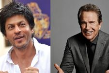 SRK meets his 'fav' Warren Beatty
