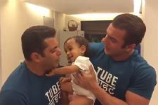 Look how Salman Khan's little nephew is HELPING him promote TUBELIGHT