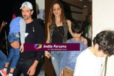 EXCLUSIVE PICS: Hrithik- Suzanne SPOTTED on a Movie Date with Kids