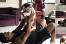 Ram Kapoor's workout with his dog