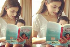 Soha Ali Khan's Baby Daughter READING Mommy's Book