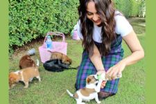 Look who VISITED Sonakshi Sinha on the sets: New Born Puppies