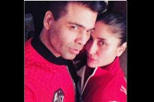 Picture Alert: Kareena Kapoor and Karan Johar Pout it out in Red!