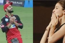Anushka Sharma CAPTURED blowing a KISS to Virat Kohli