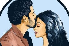 Junior Bachchan shares a beautiful fan art on 11 years of marriage