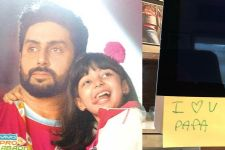 Abhishek Bachchan finds a tiny note from Aaradhya Bachchan!