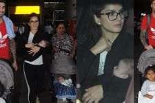 Sunny Leone LEAVES with her THREE Kids: CUTE pics Below