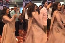Crowd goes BERSERK when Madhuri shows her MOVES on Ghagra at a MALL