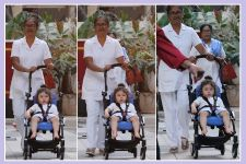 Photos: Taimur DITCHES walking; Instead ENJOYS a ride in his Stroller