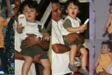 Taimur OFFERING his phone, Inaaya in Summer Dress, Ahil looks CONFUSED