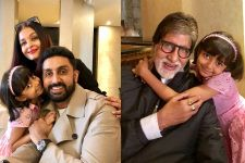 Aishwarya-Aaradhya-Abhishek-Amitabh have a PICTURE PERFECT Moment