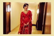 Birthday Girl Priyanka Chopra stuns in a Red Lehenga by Anita Dongre