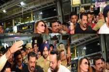 Salman's fans crammed Jaipur airport on arrival of 'Bhaijaan' with GF
