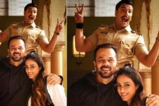 Guess what who came visiting the sets of Rohit Shetty's Simmba?