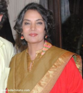 Actress shabana azmi