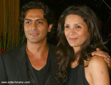 arjun rampal with his wife