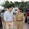 John and Kavita in the sets of Sab Tv serial F.I.R at Goregaon