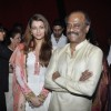 Aishwarya Rai and Rajinikanth at Robot premiere at PVR