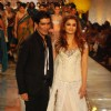Aishwarya Rai showcasing on ramp for Manish Malhotra on day 1 of HDIL