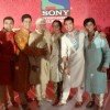 Srman, Rajendra, Ravi Dubey and Meghan at press conference of Sony's new show 'Saas Bina Sasural'