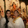 Rani Mukherjee and Bappi Lahiri attend a Durga Puja event