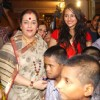 Sonakshi Sinha along with her mother Poonam Sinha at the charity event for underprivileged women and children at Mayfair Banquets in Worli, Mumbai