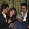Hrithik, Aishwarya and Abhishek at Music release of 'Guzaarish' at Yash Raj Studio, Mumbai