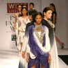 Models showcasing  designers Pankaj & Nidhi's  creations at the Wills Lifestyle India Fashion Week-Spring summer 2011,in New Delhi on Sunday