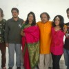 Kavita Krishnamurthy with her family for a music video directed by Luke Kenny at Andheri
