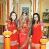 Kratika Sengar, Priyal Gor and Binny Sharma wishing Happy Diwali