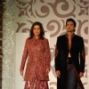 Zeenat Aman with Model Walk for fashion designer Riyaz Ganji at Aamby Valley Indian Bridal Week day 4