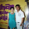 "Aadesh Shrivastava and Prachi Desai at the album launch of ""Kahan Main Chala"" at Sun N Sand"