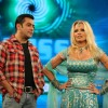 Salman Khan and Pamela Anderson on the sets of Bigg Boss 4 House