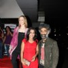 Makrand Deshpande and Preetika Chawla at Shahrukh Bola Khoobsurat Hai Tu film premiere at Cinemax