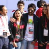 Bollywood actors Rahul Bose, Arshad Warsi and Bipasha Basu during the Delhi Half Marathon, in New Delhi